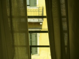 Curtained window