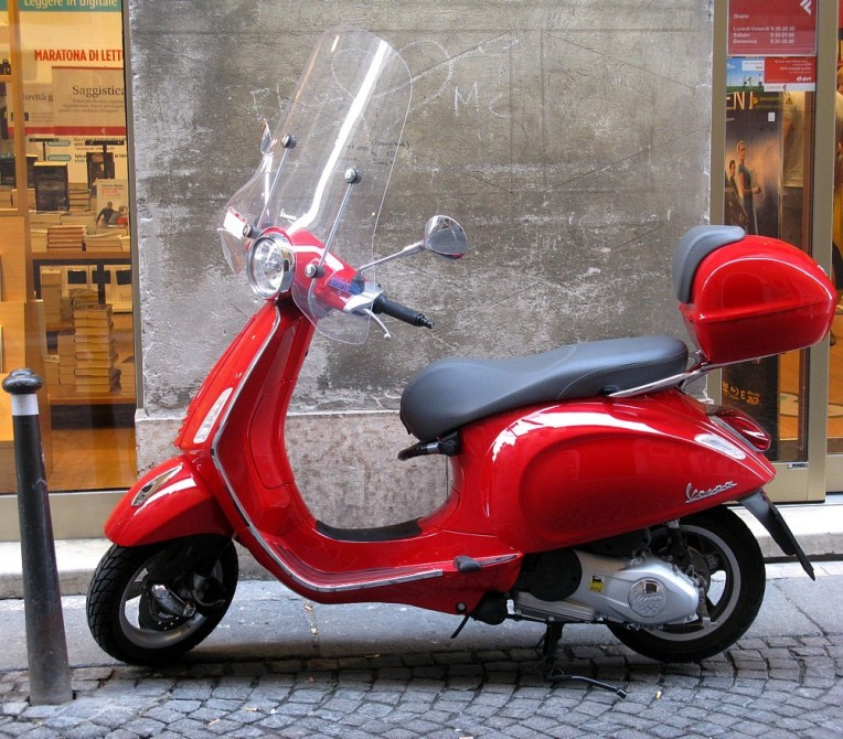 Vespa at the ready