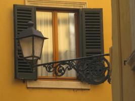 Window yellow wall