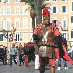 Gladiator on the loose in Piazza di Spagna