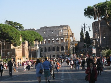 Marching towards the Colosseum