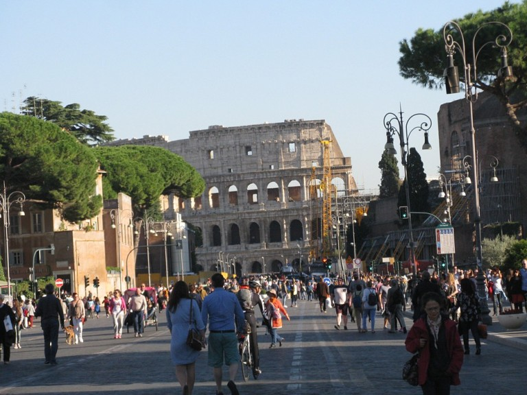 Route to the Colosseum