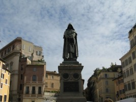 Giordano Bruno keeps watch for far flung galaxies while we shop
