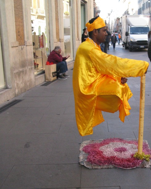 Street Entertainer Via del Corso