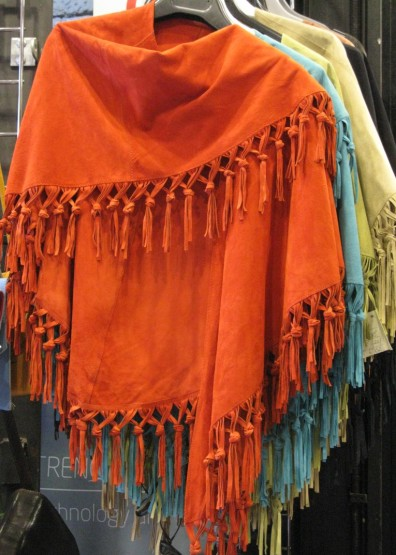 Soft suede shawls in zingy colours