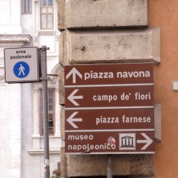 No chance of getting lost in Rome