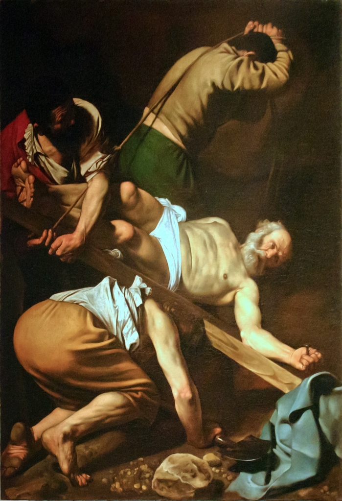 This image has an empty alt attribute; its file name is crucifixion-of-st-peter-caravaggion-image-ron-porter.jpg