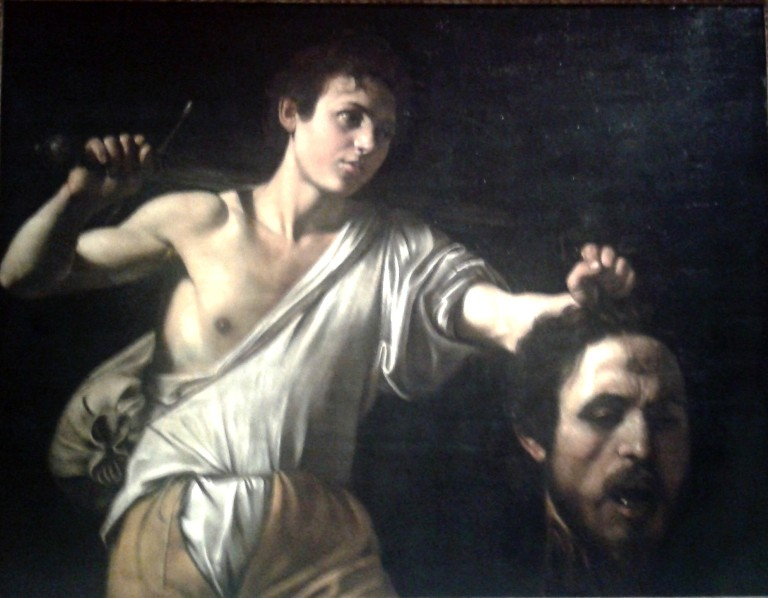 David and Goliath Caravaggio - image Ravenna crop