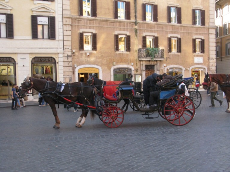 Horse and carriage Spanish Steps