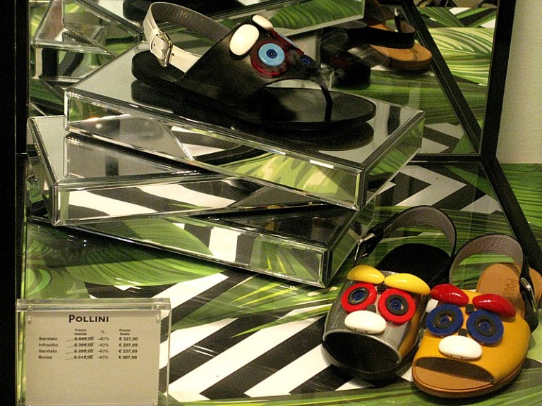 Pollini face sandals sized