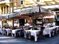 Morning coffee on the Via Vittorio Veneto