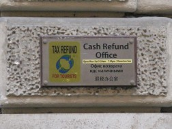 Tax Refund sign sized