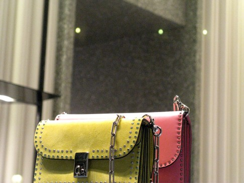 Valentino - pretty suede and leather shoulder bags in bonbon colours