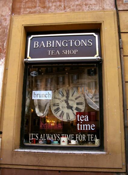 Babingtons famous teashop at Piazza di Spagna