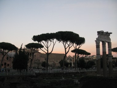 Forum at dusk