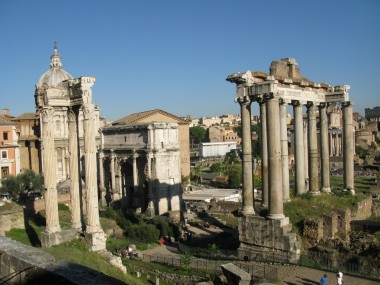A spring day at the Forum