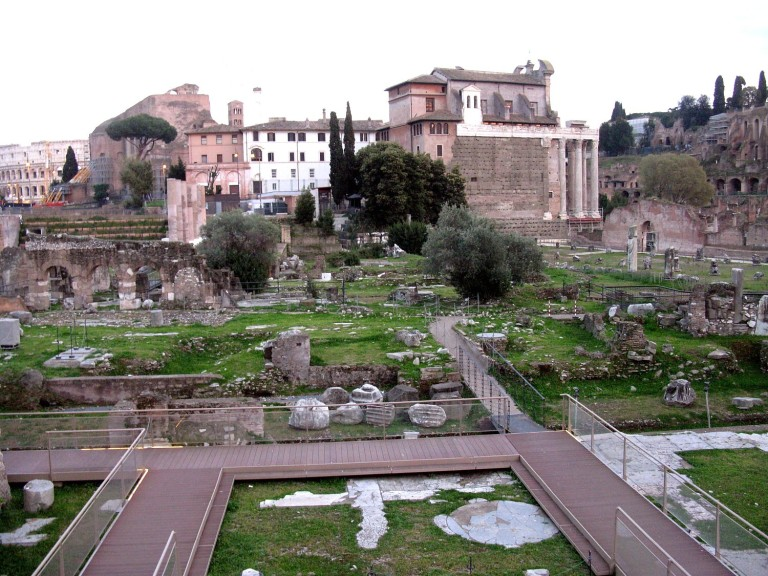 Forum with Temple of Venus marked