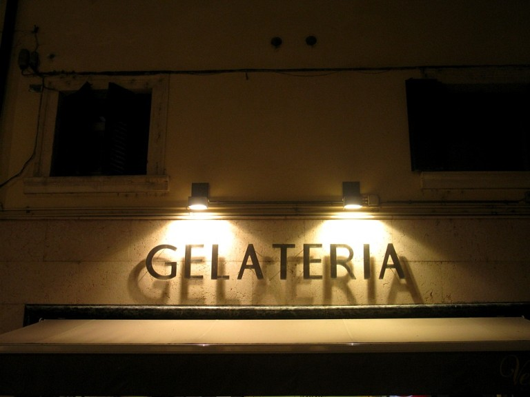 Gelateria by night