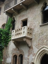 Juliet's balcony, added in the 19th century
