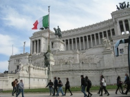 The Vittorio Emanuele II Monument now stands on the Capitoline Hill
