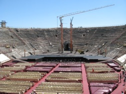 Arena di Verona during set up