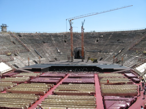 Arena di Verona - getting ready for the show