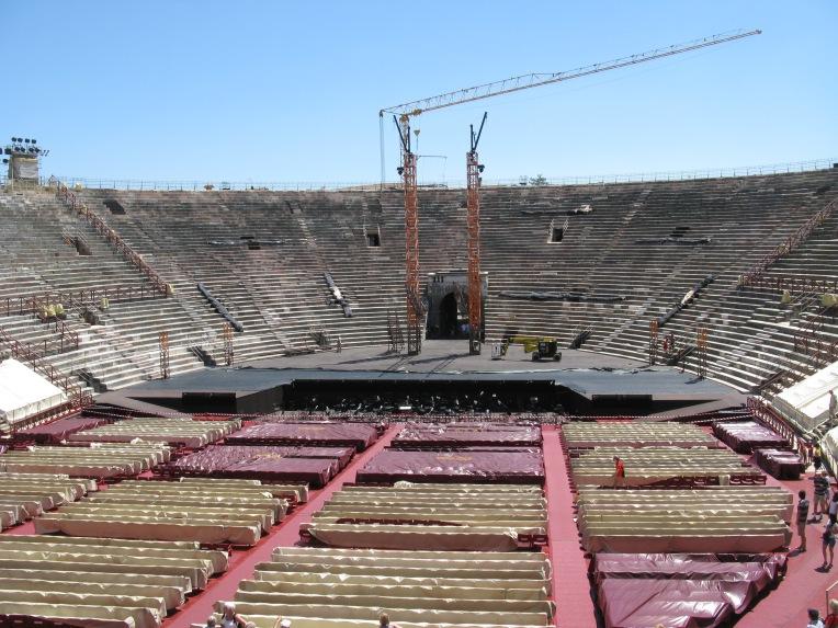 Arena di Verona during set up