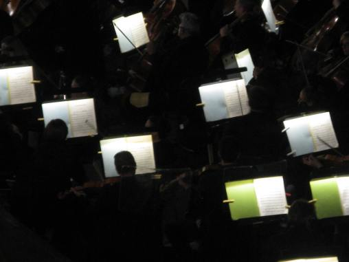 Orchestra in place, hard at work