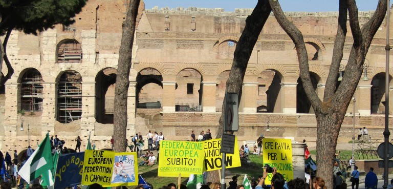 colosseum protesters crop