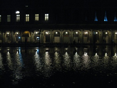 Piazza San Marco at night under water