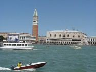 Approaching San Marco by boat