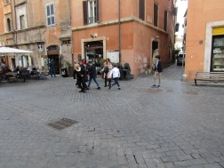 Street football in the Jewish Quarter, Rome