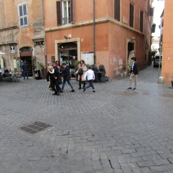 Street football in the Jewish Quarter, Rome