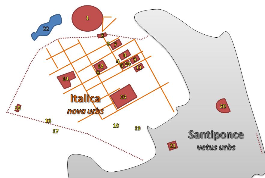 Italica town plan
