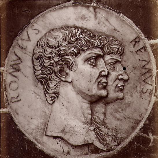 Romulus and Remus - Brogi,_Carlo_(1850-1925)_-_n._8226_-_Certosa_di_Pavia_-_Medaglione_sullo_zoccolo_della_facciata