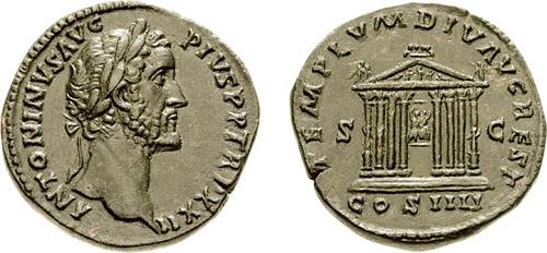 Antoninus_Pius_sestertius_-_Templum_Divi_Augusti_-_RIC_1004